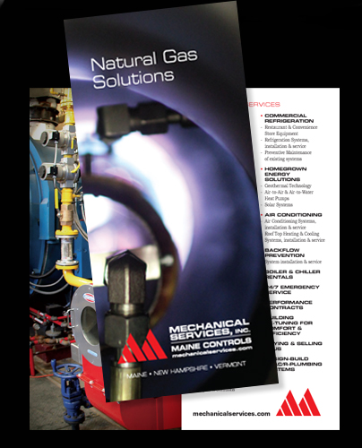 Brochure design for Mechanical Services