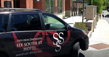 Vehicle Wrap for Six South St Hotel