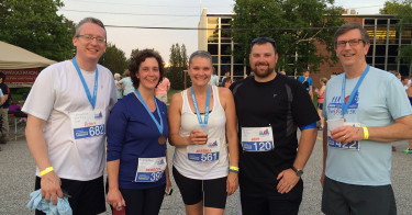 Team Vreeland at 2015 Twilight 5k