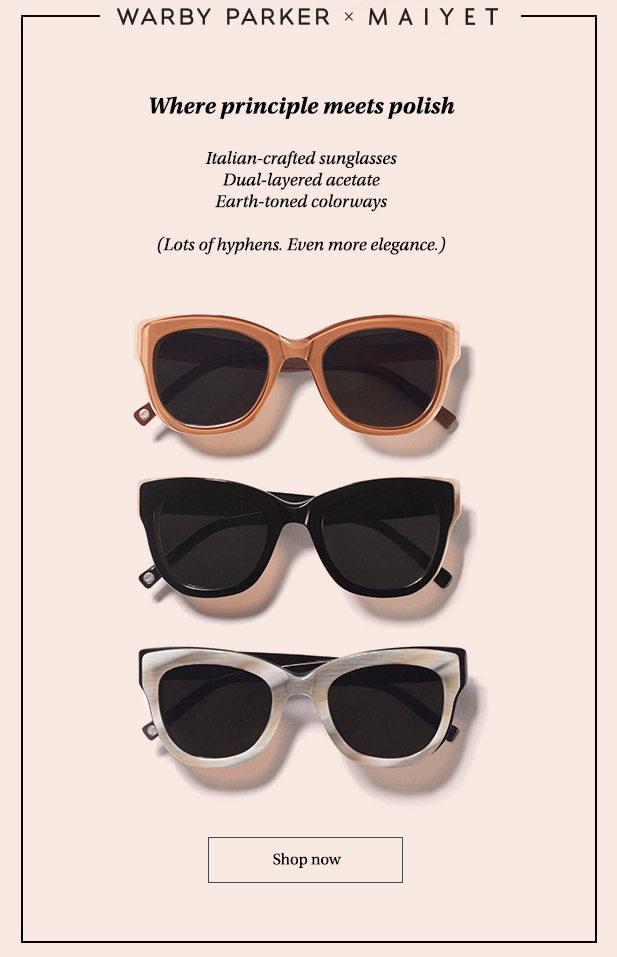 Example of a playful Warby Parker email